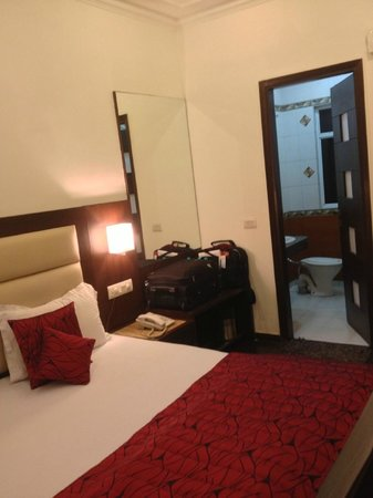 Hotel Chanchal Continental: Your Room w/view of Bathroom