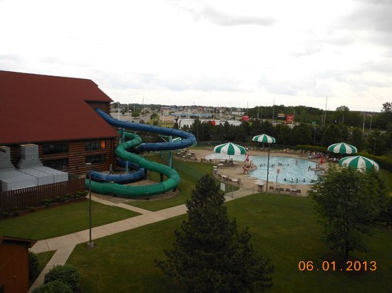 Great Wolf Lodge: View from our balcony