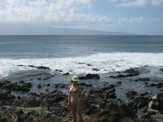Napili Shores Maui by Outrigger : tidepools in front of resort