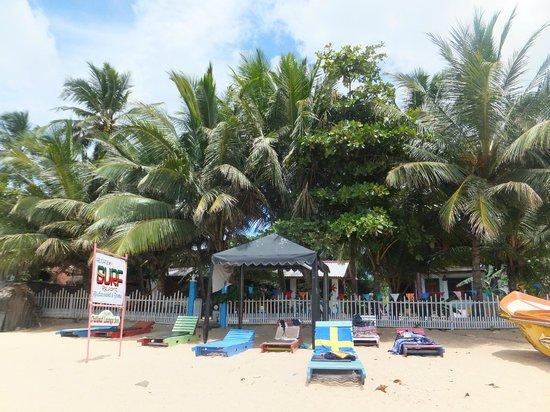 Arugambay Surf Resort: beach area