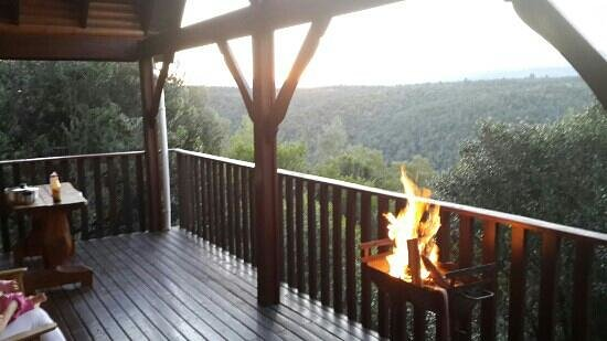 Homtini Guest Farm: braai over the forest
