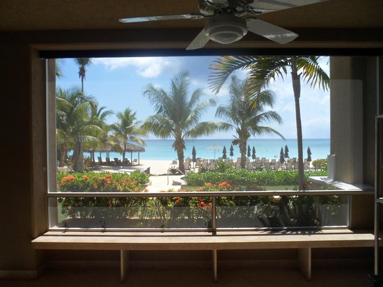 Beachcomber Grand Cayman: View from the master bedroom.  It really looks like a postcard!