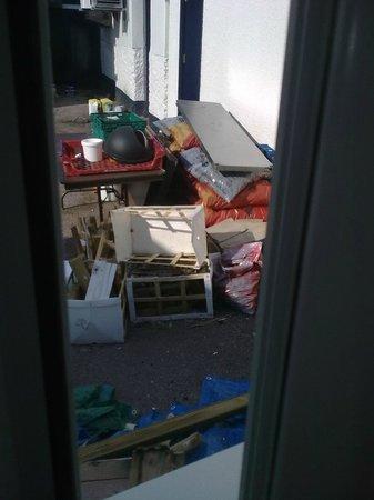 Blue Ball Inn: View from bathroom window (room 3)
