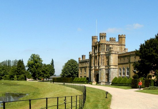 The approach to Coughton Court...