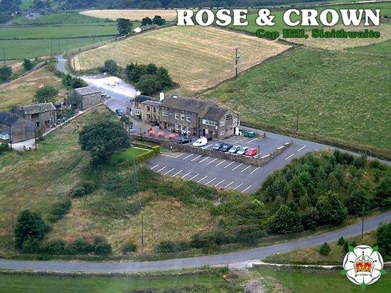 Rose & Crown: Aerial shot