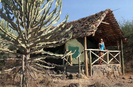 Ol Mesera Tented Camp: Comfortable safari tent with private veranda