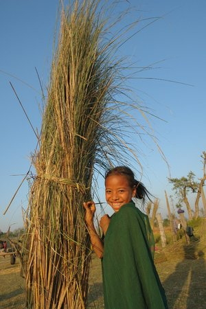 Bardia National Park, Nepal: cheerfu tharu girl