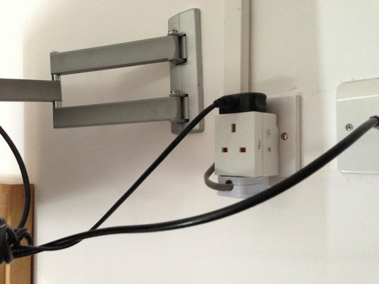 The Strand Hotel: 3 way adaptor behind TV - lillegal ?