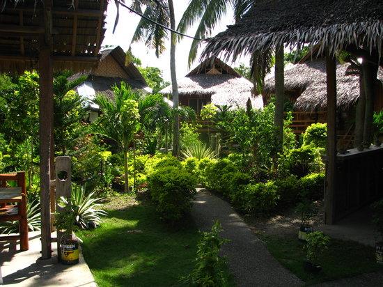 Mayas Native Garden : Garden and huts