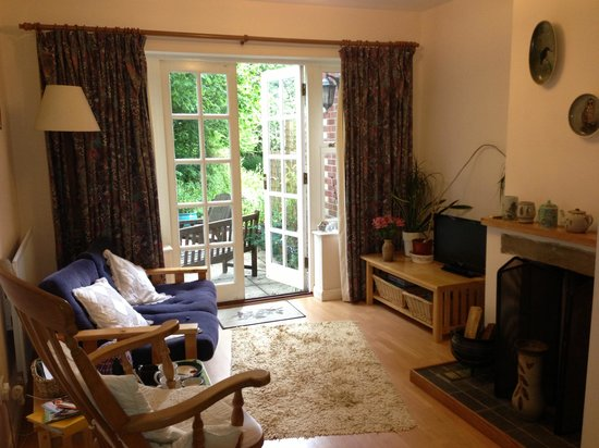 Fern Tor: Private lounge in Garden Room