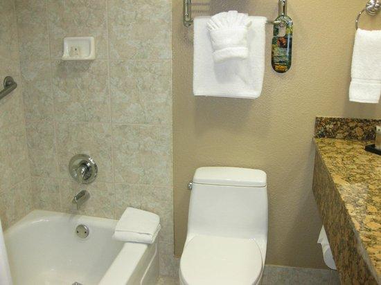 Bathroom picture of best western plus casino royale las for Best western bathrooms