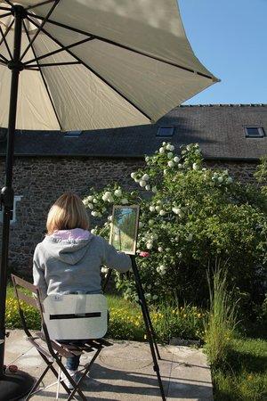 Manoir de La Villeneuve : Evening oil sketches.