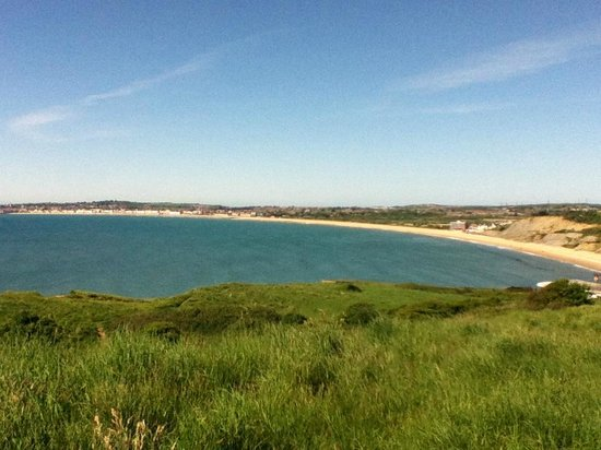 B+B Weymouth: weymouth bay from coastal path