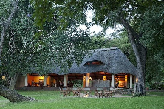 Imbabala Zambezi Safari Lodge: The lodge area with dining room and bar