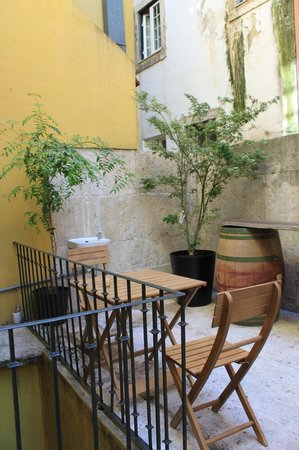 Grapes and Bites : Hostel Terrace
