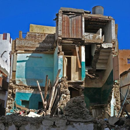 Balad: All in the same area of the Old Town, it looks as though an earth quake has hit it.
