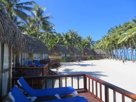 Aitutaki Lagoon Resort & Spa: view from our bungalow