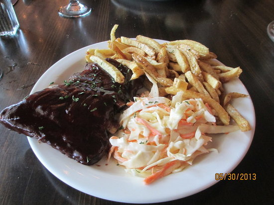 Bear-None: Ribs, Fries and Cole Slaw