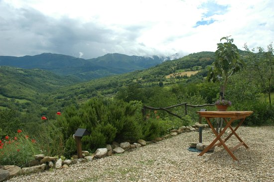 Campsite Rocca di Sotto: Prachtig uitzicht!