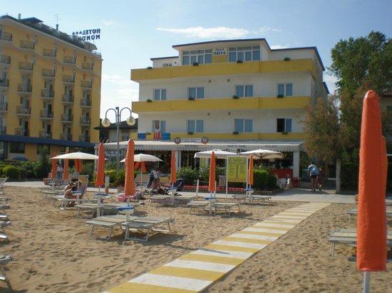 Hotel Silva: vista dalla spiaggia