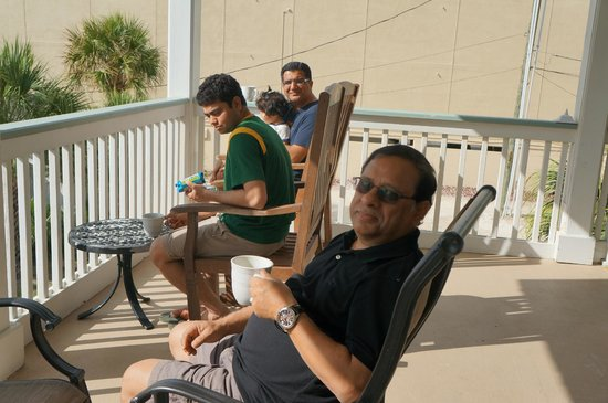 Desoto Beach Hotel: The balcony adjoining the room was our favorite place