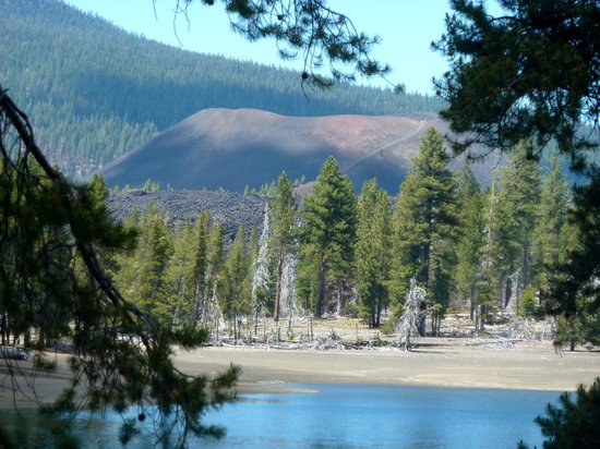 Cinder Cone, as seen from the southern Shore of Snag Lake