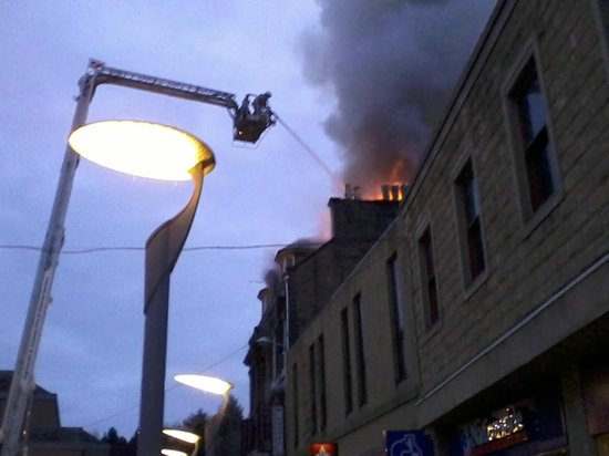 Eastgate Backpackers Hostel : The fire brigade trying to control the fire