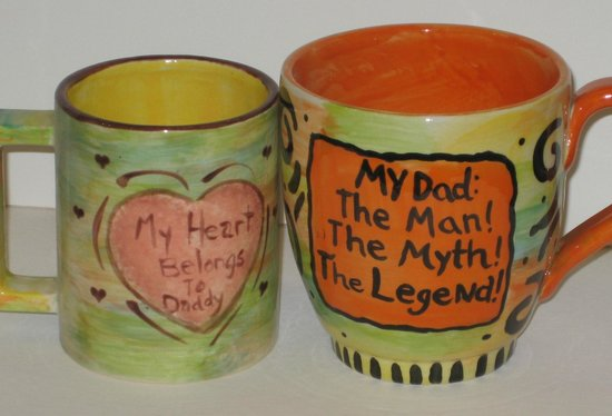 Idyllwild Earth 'N Fire: Father's Day Mugs painted at Earth 'N Fire