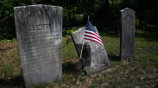 Prospect Mountain Campground : Nearby cemetery with interesting headstones