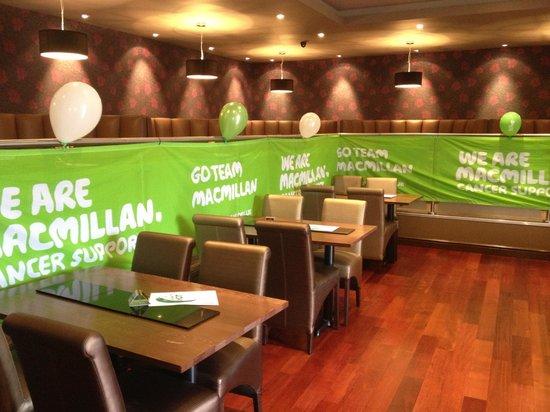 Ram Sports & Social Club: Set up for Macmillan charity event