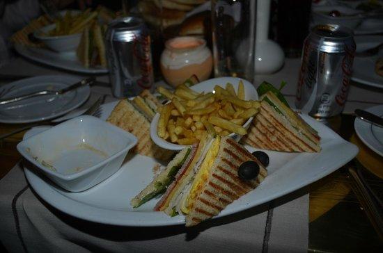 Mena House Hotel: Club sandwich