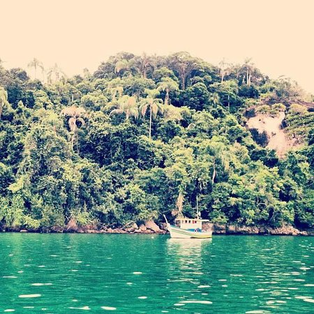 Angra Boutique Hotel: A shot from the boat tour. The water is so clear, you can see to the bottom!
