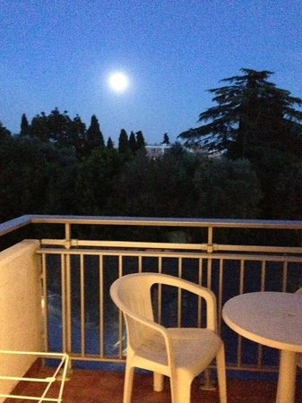 Les Agapanthes: Full moon from the terrace overlooking the pool & gardens