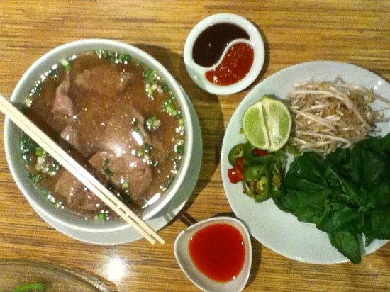 Noodle Shop: Pho beef soup with rice noodles