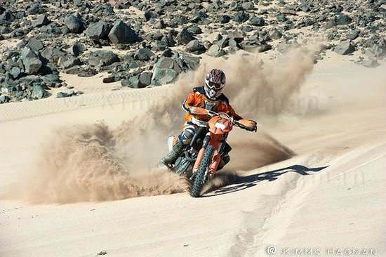 Bike Egypt - Extreme Desert Adventure : KTM bike racing small dune near hurghada red sea egypt