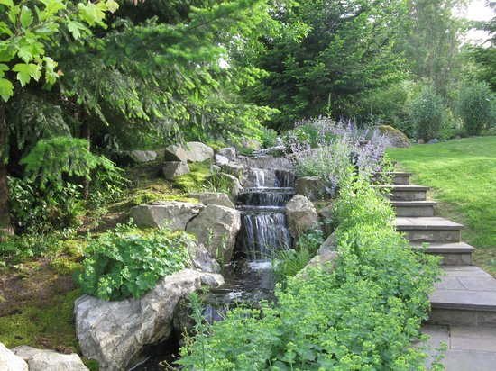 Wetherly Inn: Gorgeous waterfall leading down to heated pool