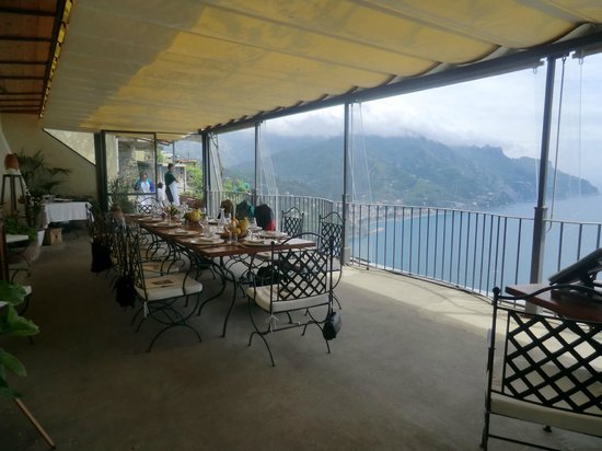 Mamma Agata - Cooking Class : The dining patio with the fabulous view