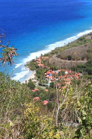Renaissance St. Croix Carambola Beach Resort & Spa: Looking down on hotel from hike to tidal pools.  MUST DO
