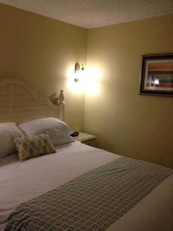 The Cove on Ormond Beach: Comfy bed, nice TV