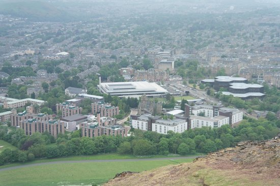 Pollock Halls - Edinburgh First: View of Pollock Halls from Arthur's Seat