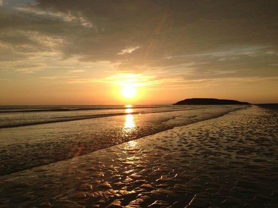 Hillend campsite: Beautiful sunset