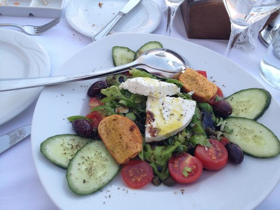 Santorini salad picture of ambrosia restaurant oia for Ambrosia mediterranean cuisine