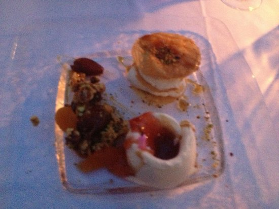 Sign picture of ambrosia restaurant oia tripadvisor for Ambrosia mediterranean cuisine