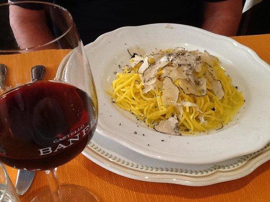 Ristorante Il Cacciatore: pasta with truffles
