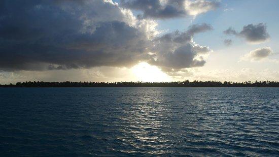 The St. Regis Bora Bora Resort: Deck view