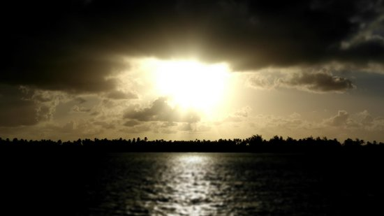 The St. Regis Bora Bora Resort: Sunrise from the room