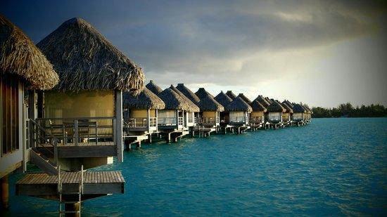 The St. Regis Bora Bora Resort: View from the Bungalow deck