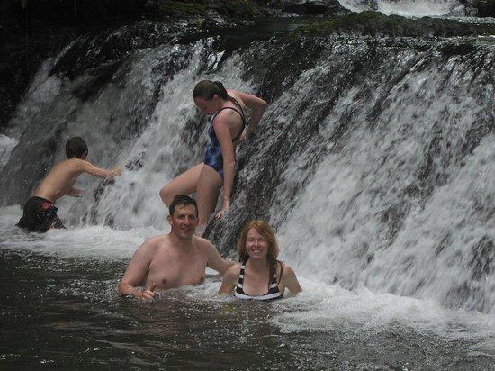 Aguila de Osa Inn: a break for a swim Corcovado national park hike