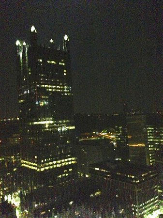 Fairmont Pittsburgh: View South night.