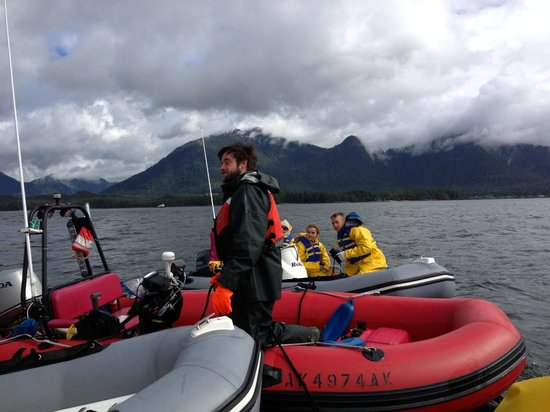 Ketchikan Outdoors: Zodiacs rafting for a talk from Fearless Jack